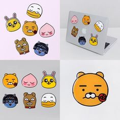 Kakao Friends Official Goods Big Point Sticker Phone Laptop Deco Accessories 152 #KakaoFriends