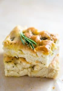 This thick and chewy Rosemary Focaccia is made with just 7 ingredients!