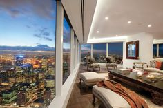 PENTHOUSE APARTMENT, Eureka Tower - Urban Intelligence  Occupying the top floor of Melbourne's Eureka Tower, this 660-square-metre penthouse apartment was transformed into a futuristic haven.