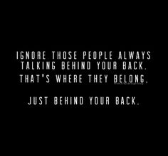 let them get in line... just behind your back...
