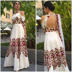 """Features Karishma Kapoor Heavy Embroidered Semistiched Gown  Product Info : TOP:-HEAVY TAPETA SILK BOTTOM:-ROTA DUPPATTA:-Georgette SIZE:-UP TO 44 INCH LENGTH:-57 up""""  Sale Price : 2750 INR Only ! #Booknow  CASH ON DELIVERY Available In India !  World Wide Shipping ! ✈  For orders / enquiry  WhatsApp @ +91-9054562754 Or Inbox Us , Worldwide Shipping ! ✈ #SHOPNOW  #lahengacholi #onlineshopping #bridalwear #glamour #style #quallity #pakistanifashion #designersaree #salw.."""