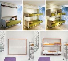 Lollipop Hide Away Bunk Bed for space-crunched dwellings