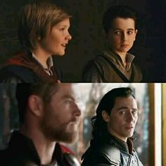 I want to have someone who looks at me like Loki looks at Thor. He's so proud of Thor. I wish that Thor felt the same way towards Loki and was proud of him. I wish their relationship was not just restored but reformed! Thor X Loki, Marvel Funny, Marvel Avengers, Avengers Actors, Loki Laufeyson, Marvel Comics, The Avengers, Tom Hiddleston Loki, Cultura Pop