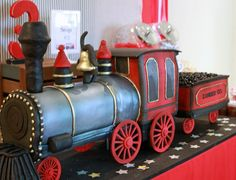 "Photo 15 of 49: Vintage Train / Birthday ""Zander Express"" 