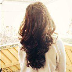 curly w/ lace braid