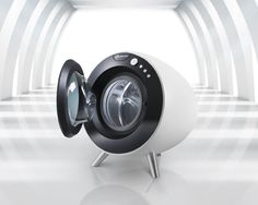 Future Bauknecht Round Washing Machine Blends Perfectly Into Your Modern Living Environment. Designed by Arman Emami Washing Machine Reviews, Washing Machines, High Tech Gadgets, Living Environment, Machine Design, Electronic Devices, Junk Drawer, Modern Living, Industrial Design