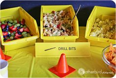 PERFECT for Twins Construction party. Such an awesome & creative idea!!