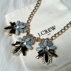 J. Crew Necklace Light blue/dark blue statement necklace. Comes with dust bag. Brand new with tags. J. Crew Jewelry