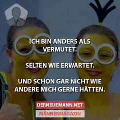 Ich bin anders ... #derneuemann #humor #lustig #spaß