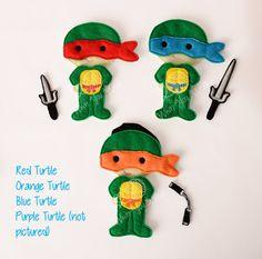 ninja turtle felt paper doll iceman prince felt by lovewhatyouwear