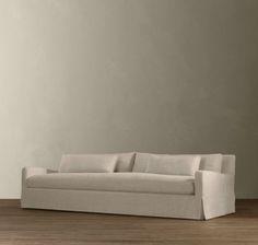 Belgian Slope Arm Slipcovered Sofa modern-sofas