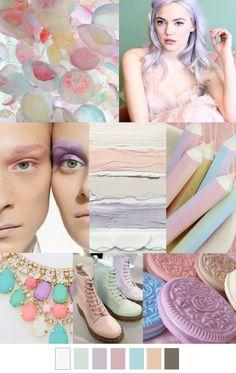 Sweet & Pastel - The Shoppeuse Palettes Color, Colour Schemes, Color Trends, Color Patterns, Color Combinations, 2016 Fashion Trends, 2015 Trends, Fashion Colours, Colorful Fashion