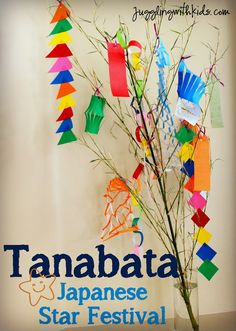 Tanabata 七夕 is a Japanese holiday that is celebrated on July every year. (Although in some places in Japan it is celebrated in August). This holiday came about because of a romantic story… Around The World Theme, Celebration Around The World, Holidays Around The World, Festivals Around The World, Around The Worlds, Around The World Crafts For Kids, Japan For Kids, Art For Kids, Tanabata Festival