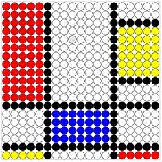 Kralenplank thema kunst. Piet Mondriaan kon het, de kleuters kunnen dit ook!