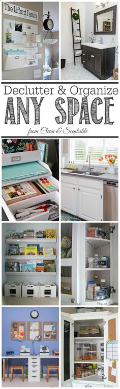 A simple step by step plan to learn how to declutter and organize ANY space or room - and keep it that way!