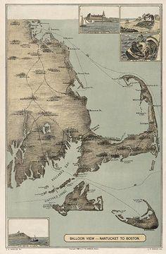 """Nantucket to Boston (""""balloon view"""")"""