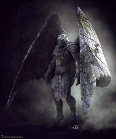 "Concept art for the gargoyles in ""I, Frankenstein"" ;In the movie, the Gargoyle Order is there to protect humanity against Niberius' 666 hordes. In that same way, real men, especially husbands, fathers, and priests, need to be aware of what leads souls to death so they can keep the innocent from them."