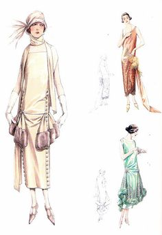 1925 day and evening dresses