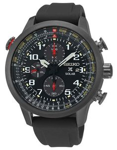 This amazing Aviation Solar Chronograph watch is powered by both natural and artificial light and has a stainless steel case and silicone strap. It also features a chronograph, aviation bezel and Lumi