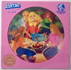Barbie and Her Friends Picture Disc LP Vinyl Record Album, Kid Stuff Records - KPD 6003, 1981, Original Pressing
