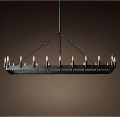 "Camino Vintage Filament Rectangular Chandelier  52"""