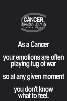 life of a Cancer