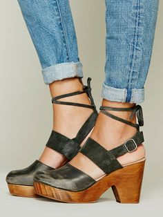 Free People Belmont Leather Clog, $128.00
