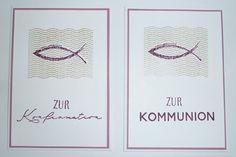 Konfirmationskarte/Kommunionskarte mit Schriftstempeln von #creativedepot