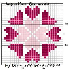 Simple but pretty Cross Stitch Designs, Cross Stitch Patterns, Quilt Patterns, Crochet Patterns, Cross Stitch Books, Cross Stitch Heart, Cross Stitching, Cross Stitch Embroidery, Graph Paper Art