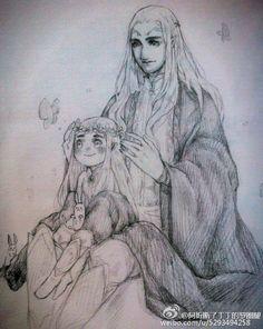 Трандуил и маленький Леголас