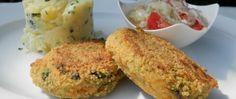 Zeleninové karbanátky a smetanové brambory