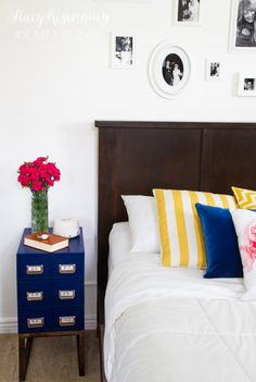 No cost bedroom makeover! Plus tips on how to get better sleep. #goodnights
