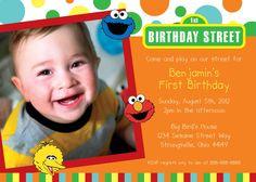 Sesame Street Birthday Invitations.
