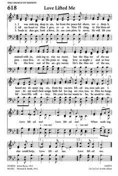 Lovely hymn of God's love. love lifted me sheet music Gospel Song Lyrics, Christian Song Lyrics, Gospel Music, Christian Music, Music Lyrics, Hymns Of Praise, Praise Songs, Worship Songs, Church Songs