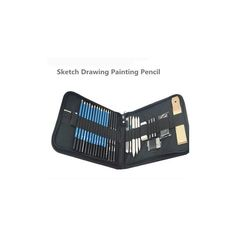 Professional 32Pcs/Set Sketch Drawing Painting Pencil Kit With Nylon... ($23) ❤ liked on Polyvore featuring white