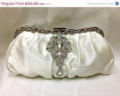 Bridal clutch wedding clutch Crystal clutch vintage by GlamDuchess, $76.00