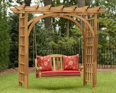 Backyard Swings, Pergola Patio, Pergola Plans, Pergola Ideas, Garden Swings, Cheap Pergola, Wooden Pergola, Outdoor Swings, Steel Pergola