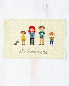 Learn How to Cross-Stitch...cute idea, but I will probably only pin this and never actually do it.