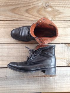 Vintage Coach Boots, Ankle Boots, Black Leather Shoes, Lace Up Boots, size 8M, Made in Italy by webecharmed on Etsy https://www.etsy.com/listing/210579490/vintage-coach-boots-ankle-boots-black