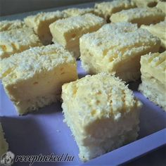 Cake Bars, Hungarian Recipes, Coco, Nutella, Cookie Recipes, Food And Drink, Cheese, Snacks, Cookies