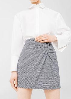 Draped printed skirt   MANGO