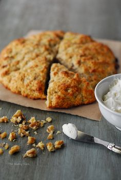 Banana Nut Scones With Icing