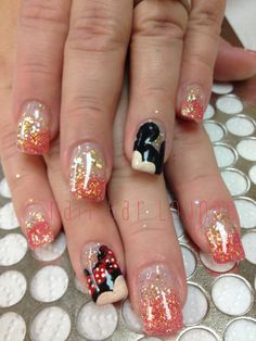 So in love with these Disney nails right now!