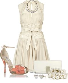 """A Tiny Splash of Coral"" by christa72 ❤ liked on Polyvore"