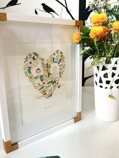 DIY Campaign-Style Frame by emily snuffer, via Flickr