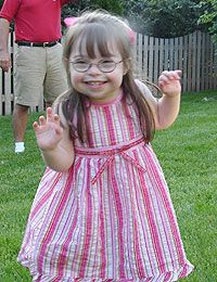 Lily was diagnosed with a Heart problem and Downs Syndrome in Pregnancy: http://www.nads.org/pages_new/new_parents/birthstory.html