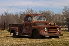PhotoSpin's Royalty Free Stock Photograph of Old Ford Truck Side ...