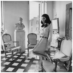 Benedetta Barzini in the Roman apartment of Cy Twombly in 1968. Photo by Henry Clarke.