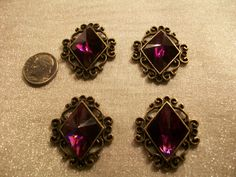 Beautiful Purple Faceted Resin Cabochons with by TheEiffelTeaRoom, $2.99