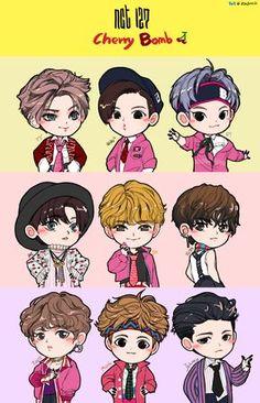 """Képtalálat a következőre: """"taeyong chibi"""" Nct Taeyong, Kpop Drawings, Cute Drawings, Nct 127, Nct Cherry Bomb, K Pop, Chibi Wallpaper, Nct Johnny, Nct Yuta"""